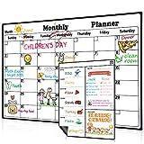 Homeinl Magnetisch Kalender Monatskalender Magnettafe Abwischbar Kühlschrank Wöchentlicher Whiteboard Planer 2019 Dry Erase Memo