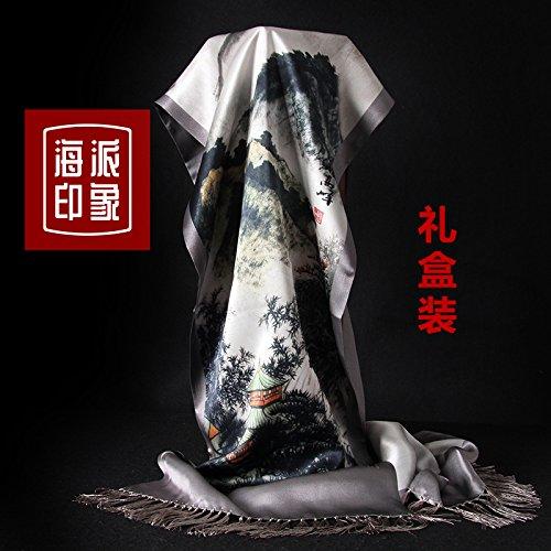 LLZHWSJ Silk/Écharpe/Man/Silk/Écharpe/Tout-Match/Boîte-Cadeau