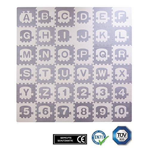 Esterilla puzle para niños con estampado de colores de BodenMax, 30x 30x 1cm, para jugar, tumbarse, hacer ejercicio, etc. (alfombra de 36piezas)
