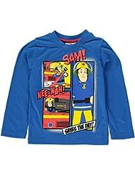 Feuerwehrmann Sam Langarmshirt blau Gr. 92 98 104 110 116 122 128