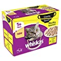 Whiskas Creamy Soups 1+ Cat Food Pouches Poultry Selection, 85 g (Pack of 12) by Whiskas