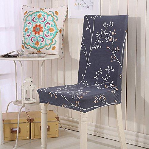 Blumendruck Blattform Spandex Stretch Esszimmerstuhl Abdeckung Maschine Waschbar Restaurant Cover Decor Hochzeit Stuhlabdeckung Color 3 universal Sizes