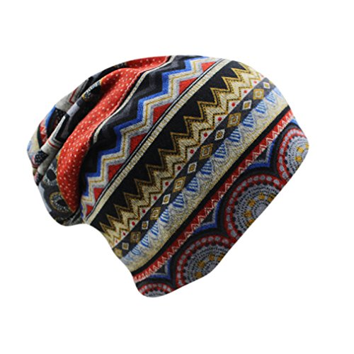 EJKDF Frauen-Dame Hip Hop Floral Winter Cap Schal Erwachsene Polyester Herbst Hut Kopfschmuck Red