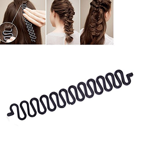 HENGSONG Mode Französisch Haare Flechten Tool Roller mit Magic Haar Styling-Bun-Maker Twist