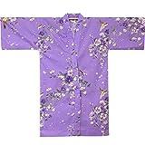 Kimono Kurzkimono/Happi, Universalgröße Damen Ki-641-10 Flower flieder Original aus Japan!