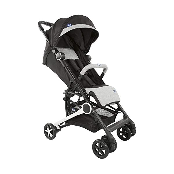 Chicco Minimo Stroller With Bumper Bar - Black Knight Chicco - BabySecurity Suitable from birth to 15kg Lightweight- only 5.8kg! One hand folding system 1