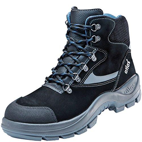 Atlas ESD di sicurezza scarpa Ergo Med 735XP BLUELINE in weite 12secondo la norma EN ISO 20345S3SRC Nero