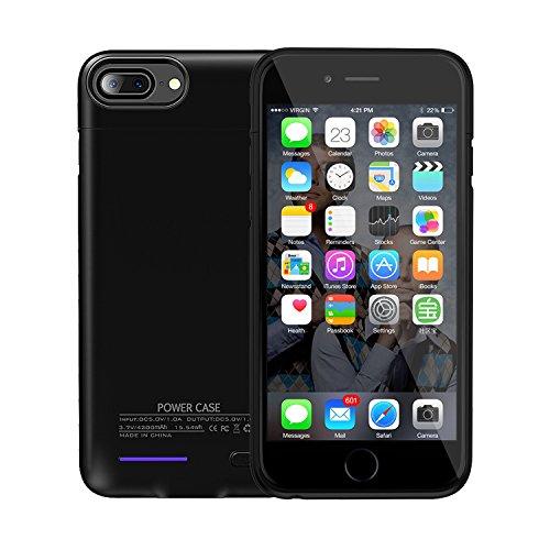 Fire source 3000mAh Akku Hülle für iPhone 8/iPhone 7/iPhone 6s/iPhone 6 4.7 Zoll Smart Power Case Automatisch Magnetisch Absorption Akkucase Lithium-Polymer Dünne Batterie Hülle Battery Case