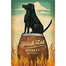 POSTERLOUNGE Alu Dibond 60 x 90 cm: Black Lab Whiskey di Ryan Fowler/Wild Apple Graphics