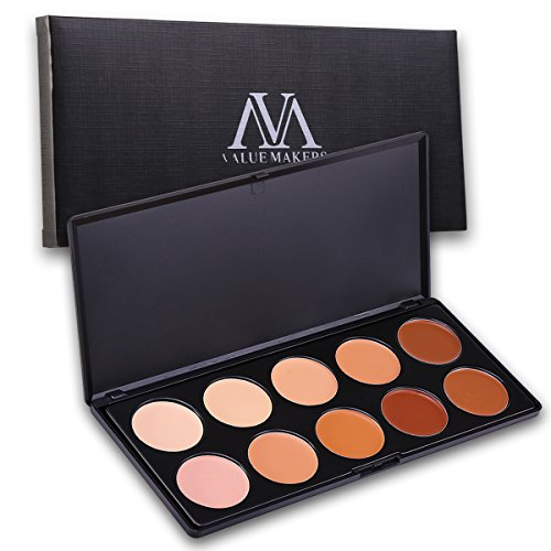 VALUE MAKERS 10 Couleurs Professionnel Palette Correctrice Set