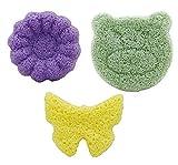 Badeschwamm von purifyou, 100% natürlich, für Babys und Erwachsene, ultraweich, langlebig, sicher, hergestellt aus reinen Konjac-Pflanzen