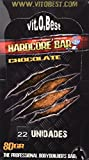 Vit-O-Best Hardcore - Barras Nutritivas Energéticas - Sabor Chocolate - 80 gr (pack con 22 barritas)