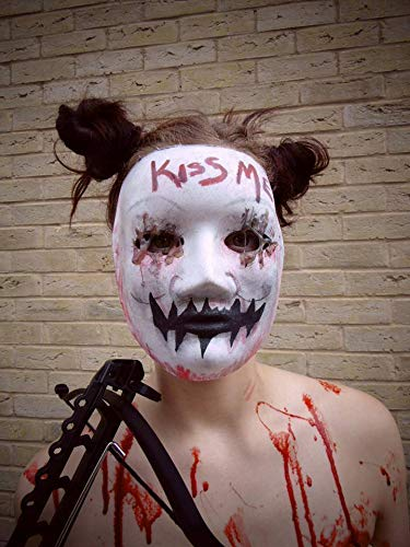 B-kreativ die Säuberungs-Anarchie Maske Fancy Kleid Halloween-Kostüm KISS ME Horror Halloween