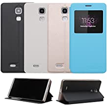 Prevoa ® 丨CUBOT P11 Funda - Flip PU S -View Protictive Funda Case para Cubot P11 Libre Andriod 3G 5,0 Pulgadas Smartphone - Azul