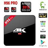 MK [H96 Pro 3GB/16GB TV Box] Android 6.0 Amlogic S912 Octa Core 4K Fully Loaded Double WiFi 2.4G/5G Bluetooth 4.0 1000M Ethernet Streaming Media Player (H96 Pro 3GB/16GB)