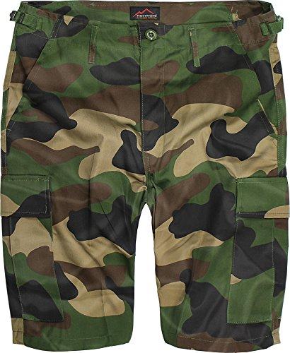 US Army Ranger Shorts BDU Cargo kurze Hose in verschiedenen Farben Farbe Woodland Größe XXXL (Us Army Bdu)