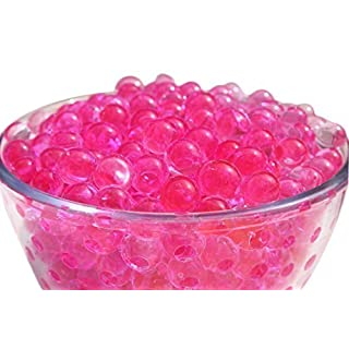 Trimming Shop Hot Pink 10 Packets of 10g Water Crystal Gel Beads - Aqua Decor for Tabletop Centrepiece - Ideal for Weddings, Parties, and Events - Soil Balls Suitable for Watering Plants by