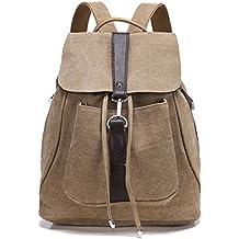 Greeniris mujer lona mochila vendimia colegio mochila para niña moda