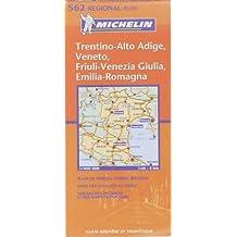 Carte routière : Veneto, Trentino Alto Adige, Friuli Venezia Giulia, Emilia Romagna, N° 11562 (en italien)