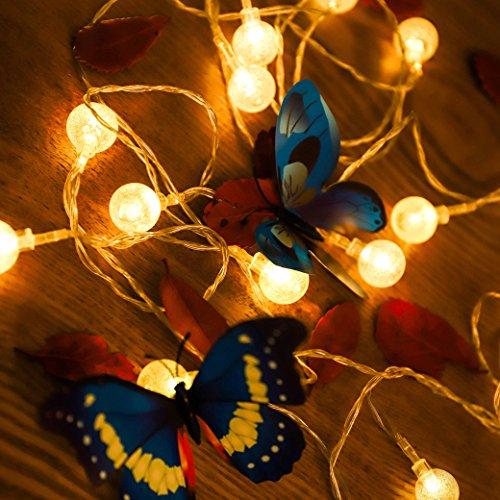 Lichterkett,Solar LED Lichterketten 5m 25er Crystal Blasé Lichtschlauch LED Stripes Warmswei für Kinderzimmer Zimmer Garten Partei Weihnachten CE Geprüft und Niederspannung Sicher (Marokkanische Auto-tag)