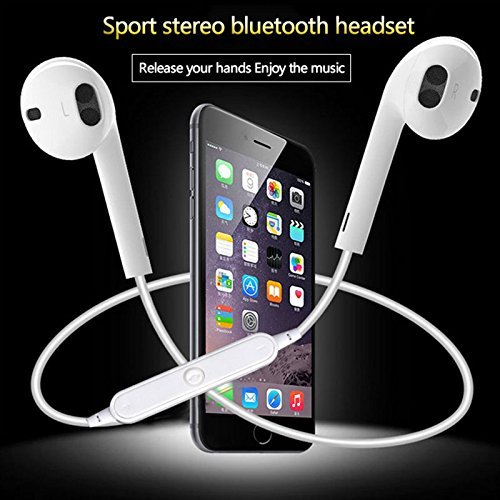 ApeCases® Redmi 4 Compatible Mini S6 Bluetooth Headset Wireless Earphone Casque Audio HD Head Phone