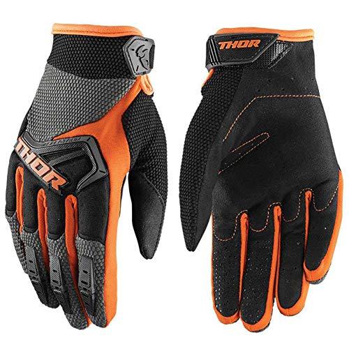 LALEO Motocross Handschuhe 7 Farben MTB Handschuhe BMX ATV MTB Off Road Motorrad Handschuhe Mountainbike Handschuhe,Orange,L