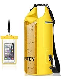 INTEY Wasserdichte Tasche 10/20L/30L Dry Bag mit Langer Verstellbaren Tragegurte Trockentasche, inkl. Wasserfeste Handyhülle, geeignet für Wassersport Wie Surfen, Paddeln, Rafting