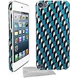 Stylebitz / Coque, motif Pingouins pour Apple iPod Touch 5 avec chiffon de nettoyage Stylebitz et film protecteur (turquoise)