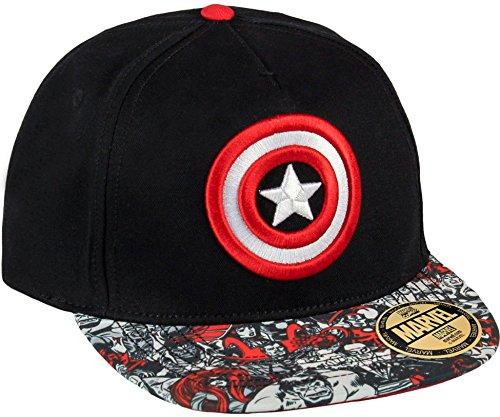Preisvergleich Produktbild Captain America Cap Shield Basecap Snapback Mütze Marvel Comics Schirmmütze Kappe