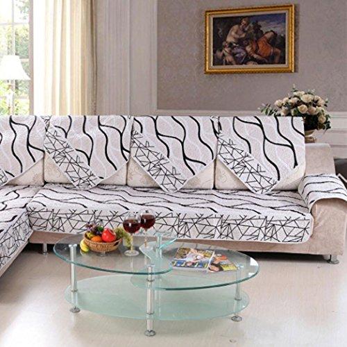 Ouneed® Sitzkissen Stuhlkissen , Sofa Abdeckung schwarz weiß gestreiften Sofa Sectional Sofa Für Abdeckungs Fall Sofa Armlehne (E) Weißes Sofa Sectional Möbel