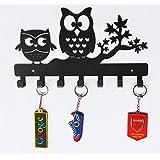 Heavenlykraft Owl Duo Metal Key Holder, Steel Key Rack