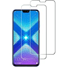 Widamin 2Pack, Compatibile con Honor View 10 Lite/ Honor 8X Vetro temperato, Pellicola in Vetro, [durezza 9H], [No-Bubble] per Huawei Honor View 10 Lite