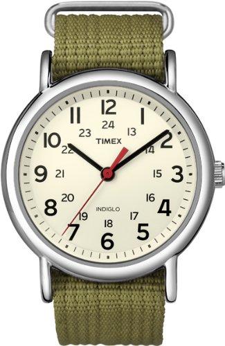 Timex Unisex-Armbanduhr Unisex Weekender T2N651 Analog Quarz