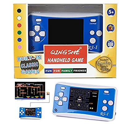 "QINGSHE Arcade Classic Handheld Games Consoles for Kids,Portable 2.5"" LCD 8-Bit 152 in 1 Retro Arcade Game System,Tiny Electronics Toys for Children Entertainment at Home or Travel"