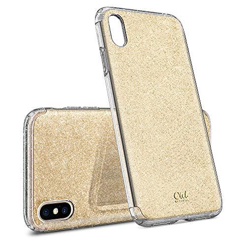 CYRILL Ciel by [Glitter Kollektion] Kompatibel mit iPhone XS (2018) and Kompatibel mit iPhone X (2017) Hülle - Gold Glitter 063CS24935