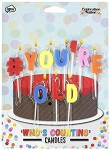 NPW tarta de cumpleaños velas-Hashtag # You