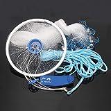 ChaRLes 3M Hand Throw Rete da pesca Spin Bait Segno Casting Network Hand Sinker Piccola maglia