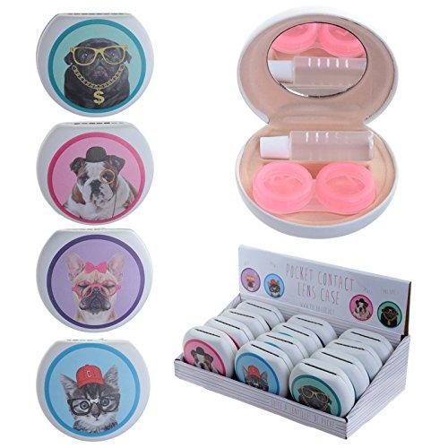 Preisvergleich Produktbild Kontaktlinsen Fall–Süße Katzen und Hunde