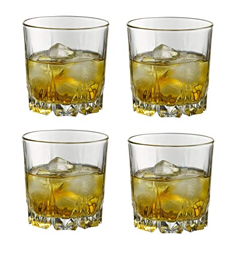 Cloud Crystal Tumblers Whisky & Wine Glass Set, 300 ml, Set of 4, Home Decor, Clear