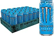 Monster Energy Ultra Blue, Sugar Free Energy Drink, 500ml (Pack of 12)
