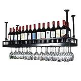 LXDDP Casier à vin Noir - Support de Verre à vin Suspendu en Fer Style Morden,...