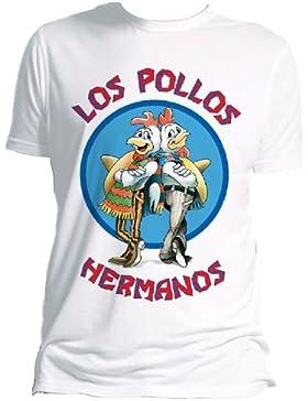 Breaking Bad - Los Pollos Hermanos (White) (T-Shirt Unisex Tg. XL) [Italia]