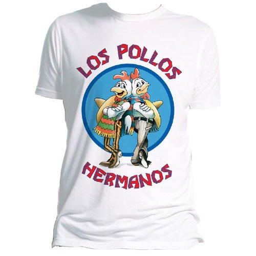 Trademark Products Men's Breaking Bad Los Pollos Hermanos Regular Fit Short Sleeve T-Shirt