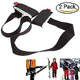 Spalla regolabile e bastoncini da sci snowboard Carrier strap immagine