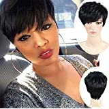 ATOZWIG Short Wigs for Black Women Female Cut Wig Heat Resistant Synthetic Wigs for Black Women