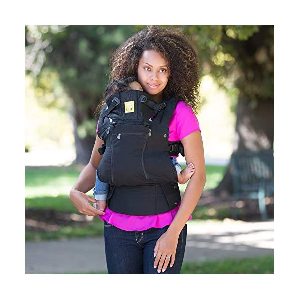 LÍLLÉbaby  Complete All Seasons 6-in-1 Baby Carrier, Black Lillebaby With a temperature regulating breathable panel that unzips to encourage airflow in warm conditions and 6 carrying positions - Foetal, infant inward, outward, toddler inward, hip, back - The only carrier you'll ever need! Suitable from 3.2- 20kg (birth to approx. 4 years old), providing extended comfortable use for parent and child with no additional infant support required for new-borns - the ergonomic adjustable seat is acknowledged as 'hip-healthy' by the International Hip Dysplasia Institute Unique spacious head support with elasticated straps - soothes infants with gentle lulling motion and provides excellent support as children grow 6