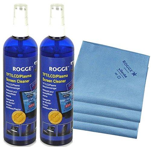 ROGGE DUO-Clean Original, 2er Set, 250ml Bildschirmreiniger + 2 Prof. Microfasertücher powered by Vileda Professional in Cooperation mit ROGGE InterTrade (2)