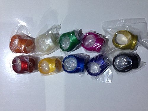 Green Lantern & Legion of Superheroes DC Comics Rings -- Set of 10 by Green Lantern Rings