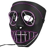 Máscara de Halloween Iluminar LED, Máscara Fantasmas Calabaza Miedo,...