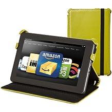 Marware - Étui en cuir véritable pour Kindle Fire - Vert (est compatible avec Kindle Fire uniquement)